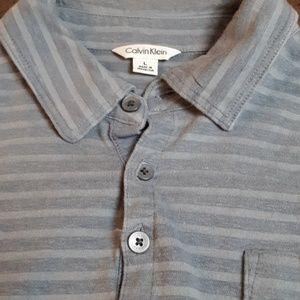 Calvin Klein 4-Button Striped Polo